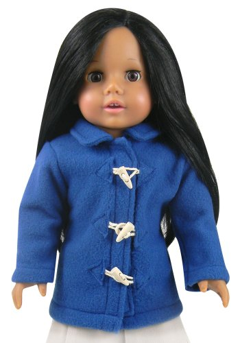 18 Inch Doll Clothing Fits American Girl Dolls - Blue Toggle Doll Coat