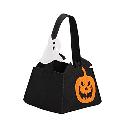 [Alinktrend Trick or Treat Halloween Bag- Nonwovens Environmental Friendly Adorable Stylish Durable Candy Tote Bag for Halloween Party, Children,] (Easy Homemade Adults Halloween Costumes)