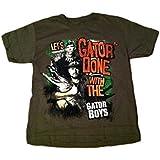 Gator Boys Lets Gator Done Boys Short Sleeve Tshirt Green (L 10/12)