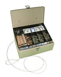 PM Company SecurIT Anti-Theft Lock \'n Latch Cash Box, 11 x 7.75 x 4 Inches, Beige, 1 per Box (04975)