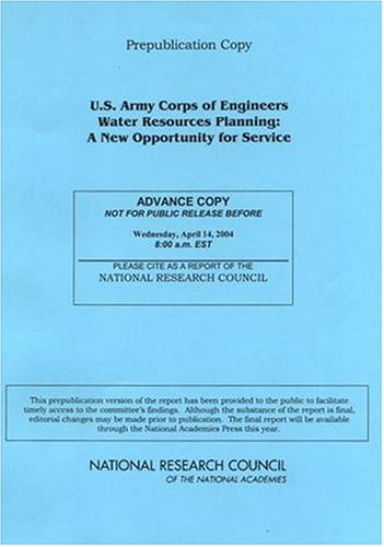 U.S. Army Corps of Engineers Water Resources Planning: A New Opportunity for Service