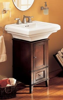 """American Standard TOWN SQUARE CLASSIC CADDIE WITH PEDESTAL SINK WITH 8"""" CENTERS 9378335.020"""