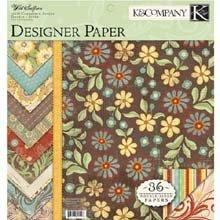 K&Company Wild Saffron 12-by-12-Inch Paper Pad