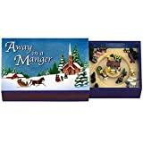 "Mr. Christmas Mini Matchbox Music Boxes ""Away in a Manager"" Animated"