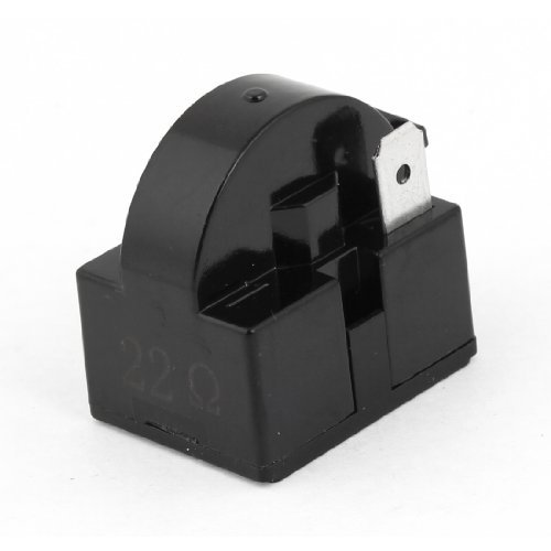 Water & Wood Home Refrigerator Parts 22 Ohm 2 Pins Ptc Starter Relay Black front-598204