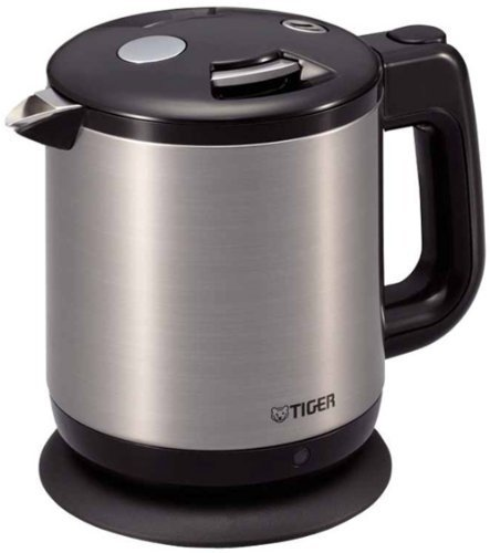 Tiger When You Want A Quick Boil Drink 0.6L Electric Kettle! Black Pca-A060-K (Body Tone Stainless Steel) By Tiger