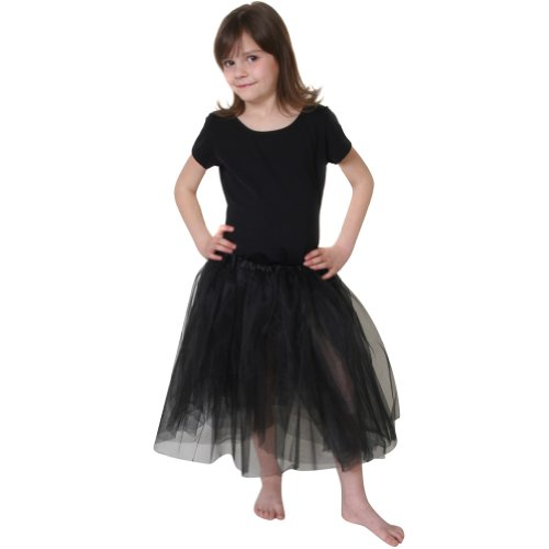 Girls Long Black Tutu
