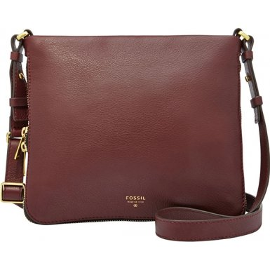 Fossil ZB5940597 Ladies Preston Raisin Leather Crossbody Handbag