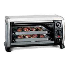 Rival CO602 6-Slice Toaster Oven Pizza Fit, Stainless Steel