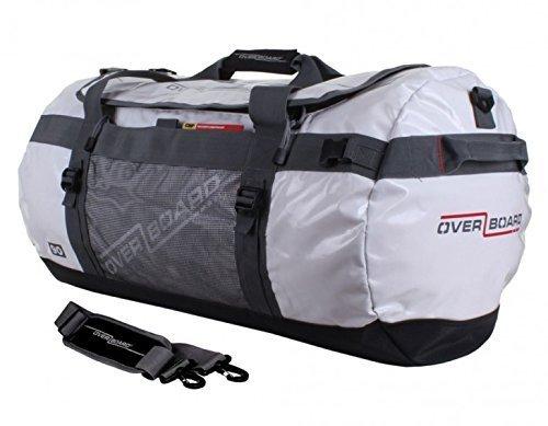 Overboard - Borsone da Viaggio Adventure, da 60 Litri, Bianco, Impermeabile
