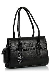 Butterflies Women's Handbag (Black) (BNS 0265)