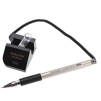LWW Pen Tabla de tinta Negro Gel Pen con Soporte