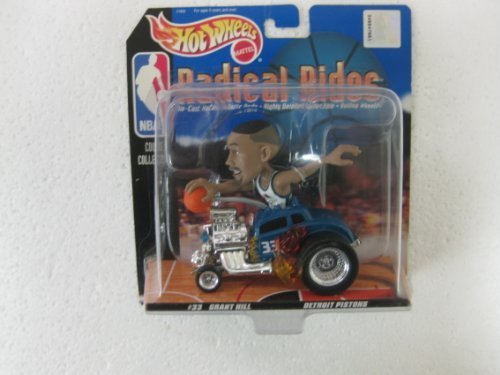 NBA Radical Rides Court Collection #33 Grant Hill Detroit Pistons In His Souped Up 143 Scale Diecast Hot Rod From Hot Wheels 1998