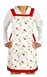 Martha Stewart Collection Cherry Design Kitchen Apron