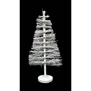 #!Cheap 3' Pre-Lit White Country Twig Artificial Christmas Tree - Clear Lights