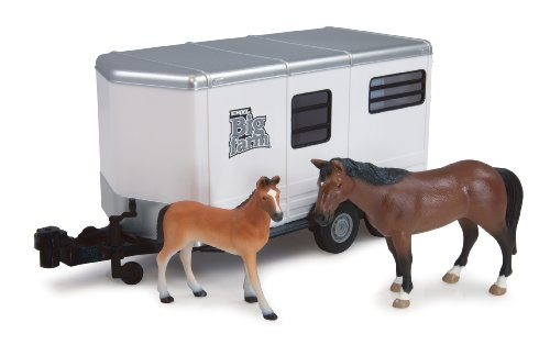 Ertl Big Farm Horse Trailer With Horse And Colt, 1:16 Scale front-21339