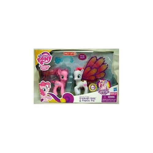 My Little Pony Kristall Königreich, Glitzerflügel Diamond Rose & Pinkie Pie, exklusives Spielset aus den USA als Geschenk