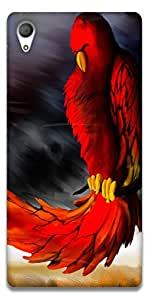 The Racoon Grip Red Parrot hard plastic printed back case / cover for Sony Xperia Z4