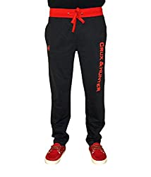 Crux&hunter Men's Trackpant (AMZ_ZJ_165_Black_30)
