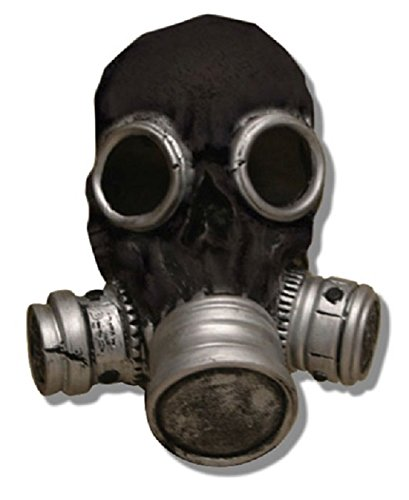 [Bio Zombie Gas Mask (Black)] (Halloween Costumes With Gas Mask)