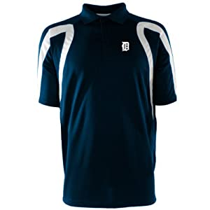 Detroit Tigers Point Polo Shirt (Team Color) by Antigua