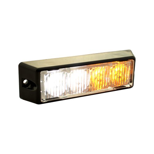 Lamphus Solarblast 4W Led Emergency Vehicle Deck Grille Strobe Warning Construction Truck Lighthead ( Other Color Available ) - Amber White