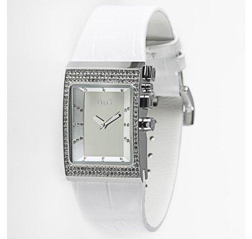 Dolce  &  Gabbana DW0155 Women's Analog Quartz Watch with White Leather Strap