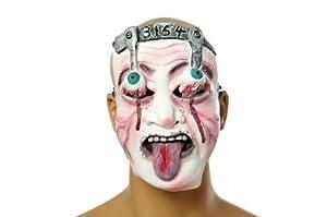 Gruselige Halloween-Gesichtsmaske mit heraushängenden Augen für Fasching und Karneval (11-B-DE)