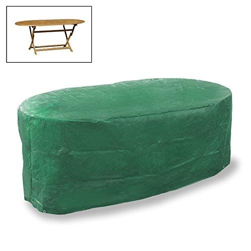 ecd germany 70 h x 180 b x 120 t cm wetterfeste ovalen gartentisch abdeckung aus atmungsaktives. Black Bedroom Furniture Sets. Home Design Ideas