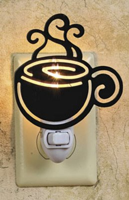 COFFEE cup silhouette NIGHT LIGHT cappucino DECOR NEW