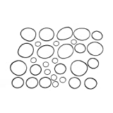 Oil Gas Seal Sealing O Rings Washer Black Nitrile Rubber 30 in 1