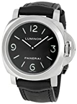 Panerai Luminor Base Black Dial and Leather Strap Automatic Mens Watch 00112