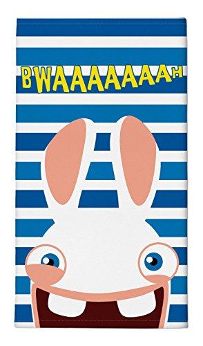 lapins-cretins-21910013-serviette-de-plage-coton-bleu-blanc-rayure-70-x-14-cm