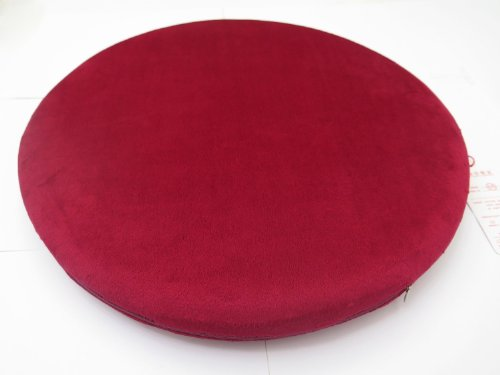 Ojia Comfortable High Quality Memory Foam Round Shape Seat Cushion/ Seat Pad / Chair Pad/ Chair Cushion/ Office Cushion/ Car Cushion/ School Cushion-16.5''*16.5''*2'' (Red)