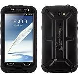 Alienwork Schutzhülle für Samsung Galaxy Note 2 Vier Schutzarten Hülle Case Bumper Wasserdicht Stoßfest Plastik schwarz SN7100F-01