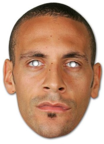 Partyrama Rio Ferdinand Celebrity Party Mask - Single
