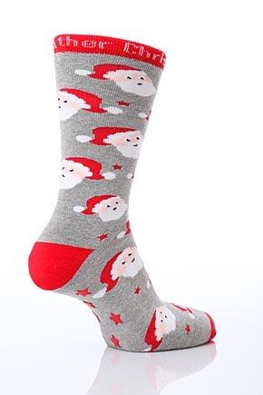 Amazon.com SockShop Kids 1 Pair Christmas Santa Slipper Socks 11-3 Kids Santa Childrens ...