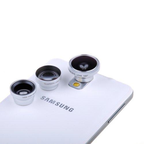 Victsing Universal Camera Lens Kit Fish Eye Lens Telephoto Lens 2 In 1 Macro Lens And Wide Angle Lens For Smart Phones Tablets Ipad Laptops