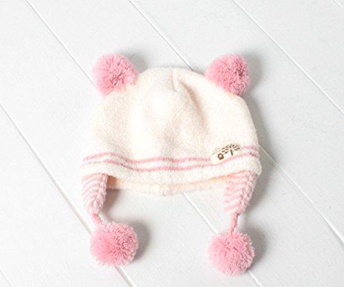 (エイチビー) HB くま耳マシュマロニット帽[ベビー] HB1623 ピンク F ニットキャップ ニット帽子 毛糸 赤ちゃん 新生児 子供 男の子 女の子 防寒 帽子 ハヤシ帽子