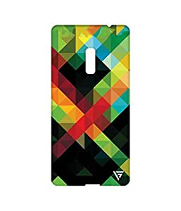 Vogueshell Triangle Pattern Printed Symmetry PRO Series Hard Back Case for Oneplus Two