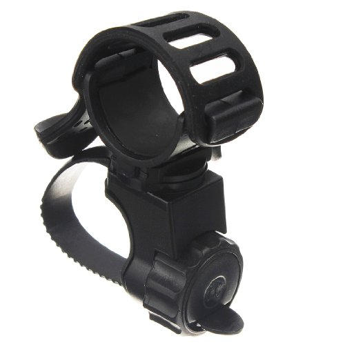 Hkbayi 360 Bike Bicycle Cycle Flashlight Torch Mount Led Head Front Light Clamp Holder Clip