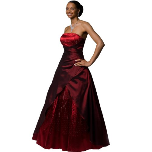 "Exklusives Abendkleid Ballkleid mit Perlenbestickung ""Star"", Weinrot, Gr. 38 Reviews"