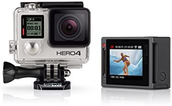 GoPro HERO4 Silver Edition Adventure - Videocámara deportiva (12 Mp, Wi-Fi, Bluetooth, sumergible hasta 40 m)