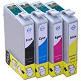 T1295 Compatible Ink Cartridges (with chip) for Epson Stylus Office Epson Stylus Office B42WD BX305F BX305FW BX305FW Plus BX320FW BX525WD BX535WD BX625FWD BX630FW BX635FWD BX925FWD BX935FWD Epson Stylus SX235W SX425W SX435W SX438W SX445W SX525WD SX535WD SX620FW Epson WorkForce WF-3010DW WF-3520DWF WF-3530DTWF WF-3540DTWF WF-7015 WF-7515 WF-7525 Printers. Full set (Apple) includes T1291 Black T1292 Cyan T1293 Magenta T1294 Yellow. FREE DELIVERY & VAT RECEIPT WITH EVERY ORDER!