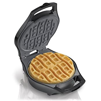 Hamilton Beach Waffle Makers are designed for quick cleanup. A covered hinge and batter channel help prevent messy spills and the nonstick surfaces are easy to clean with a damp cloth. Select models take convenience one step further, offering removab...