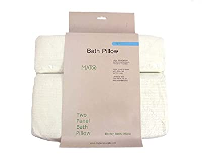 Mato Soft Spa Bathtub Bath Pillow with Suction Cup 16 x 12.5-Inch