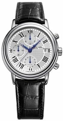 Raymond Weil Men's 7737-STC-00659 Maestro Black Leaher Strap Watch from Raymond Weil