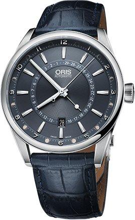 Oris 0176176914085-set LS Orologio da uomo Tycho Brahe Edizione Limitata cinturino in pelle, colore: blu