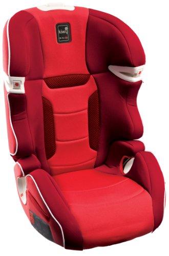 Kiwy 14003KW01B - Seggiolino auto per bambini, gruppo 2/3 (15/36 kg), con adattatore Q-Fix per Isofix, certificato ECE R44/04, colore: Rosso ciliegia