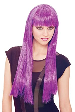 Glitzy Glam Urban Fut Women (Purple)Wig Adult Accessory